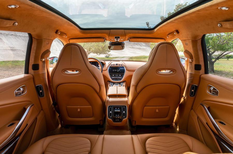 2020 Aston Martin DBX camouflaged prototype ride - interior