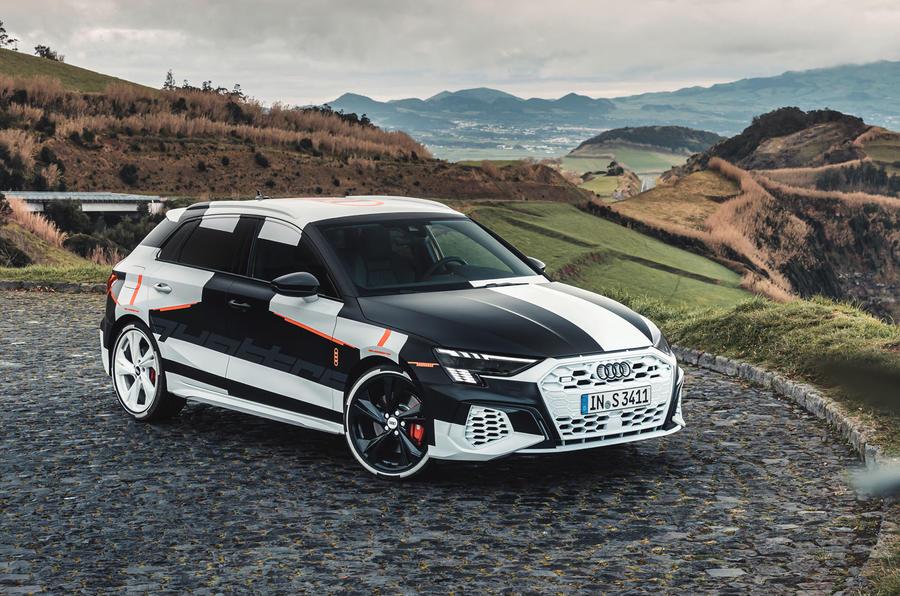 Audi S3 2020 prototype drive - static front