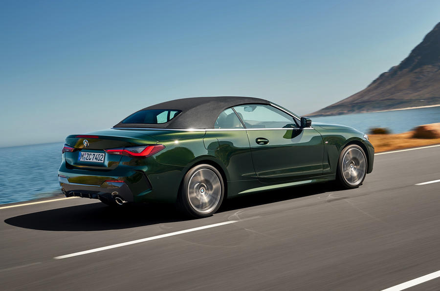 2021 BMW 4 Series Convertible official images - roof up rear