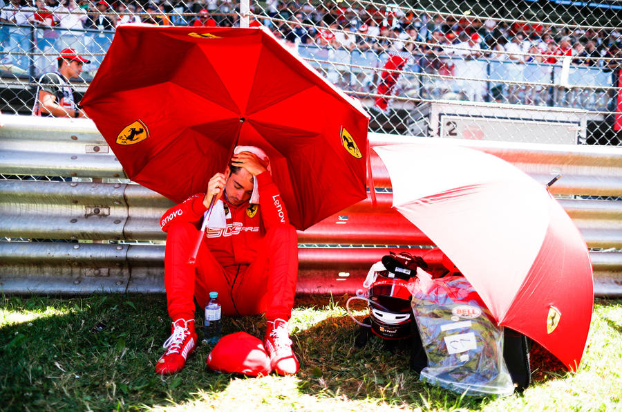 Charles Leclerc interview, 2019 British Grand Prix - towel