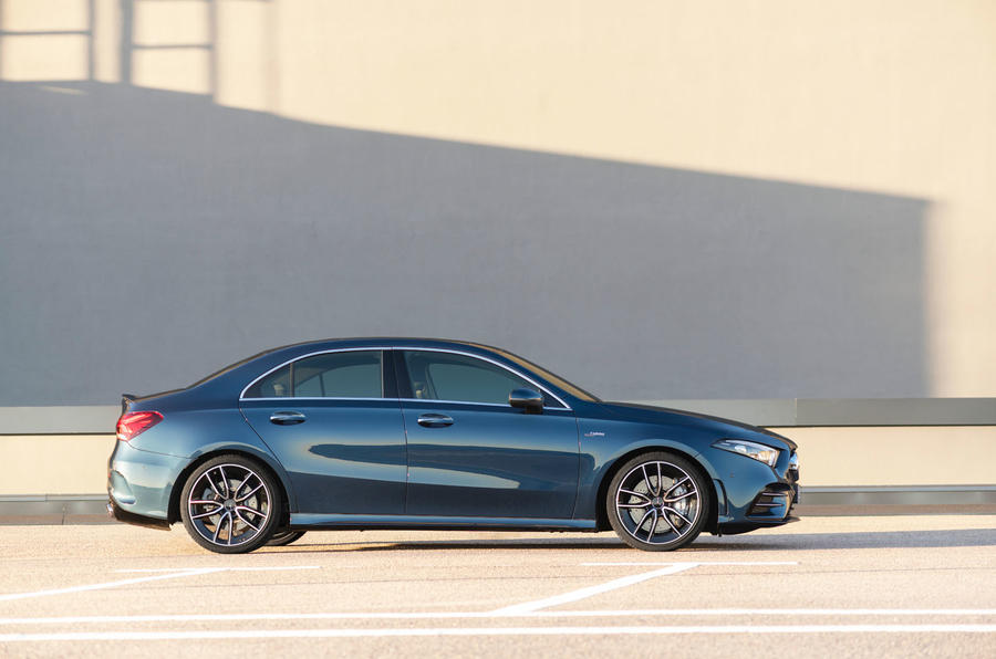 Mercedes-AMG A35 Saloon 2019 official reveal - static side