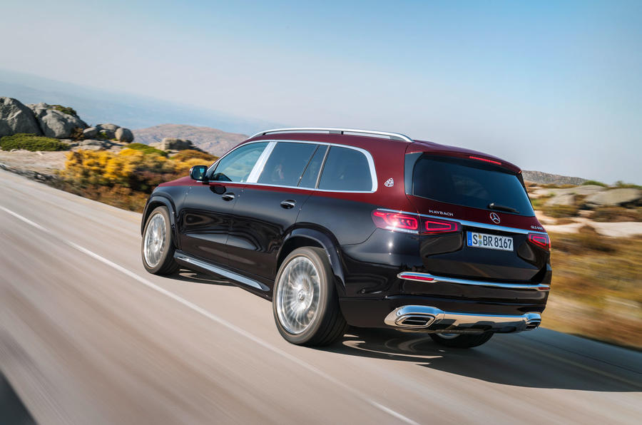 Mercedes-Maybach GLS 600 official press images - on the road rear