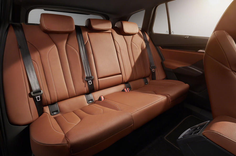 Skoda Enyaq official reveal images - studio rear seats