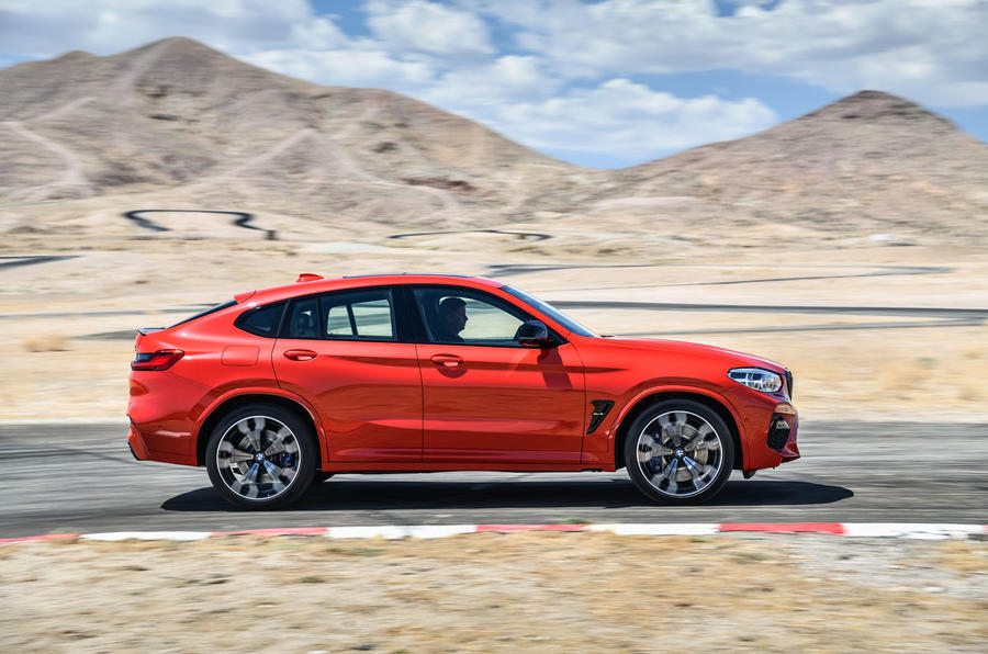 BMW X3M official press - on the road side