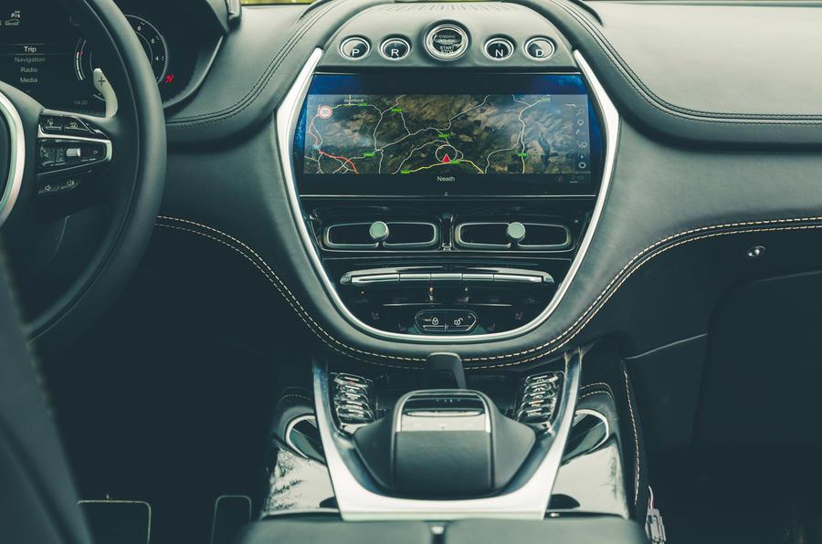 Aston Martin DBX 2020 prototype drive - centre console