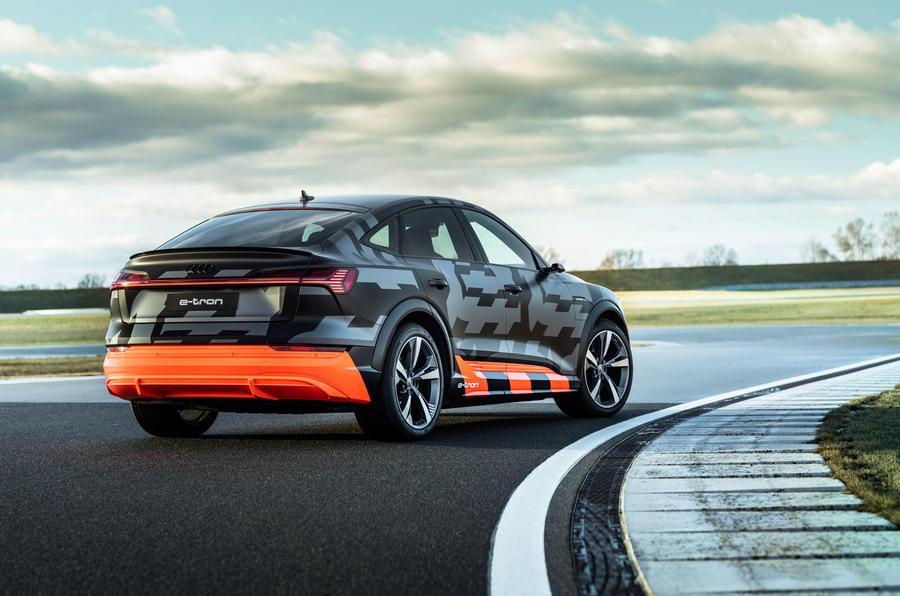 Audi E-tron S Sportback prototype drive - static rear