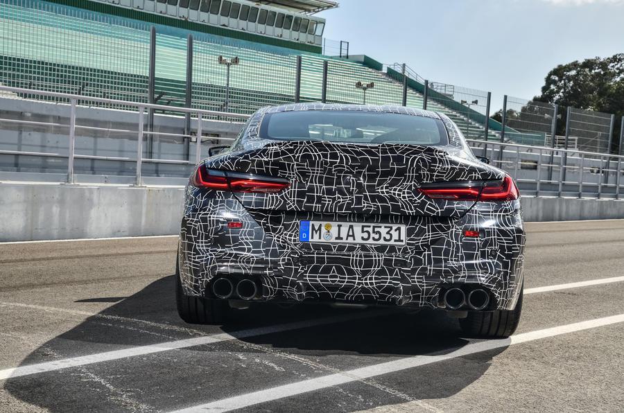 2019 BMW M8 prototype ride - static rear