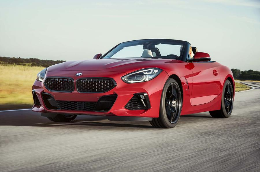 2019 BMW Z4 official reveal Pebble Beach - track front