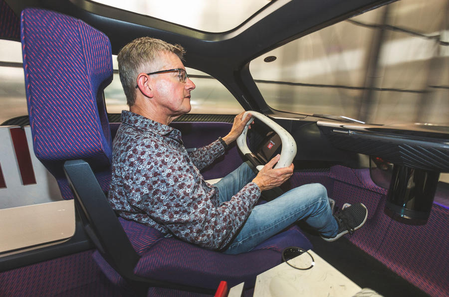 Citroen 19_19 concept prototype drive - Richard Bremner driving over shoulder