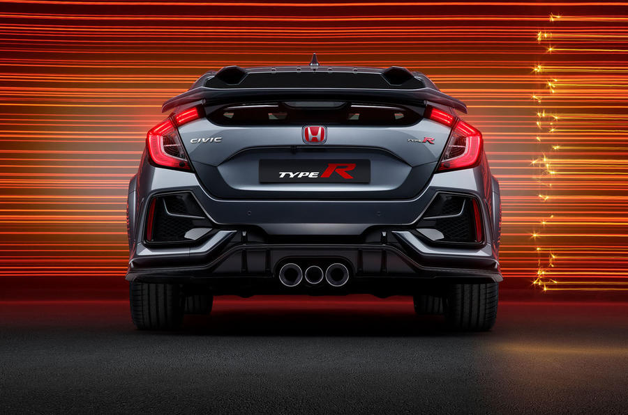 Honda Civic Type R sport line 2020 official press photos - rear end