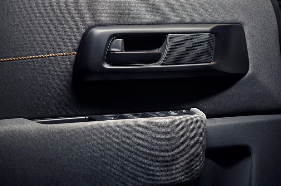 Honda e 2019 prototype drive - door cards