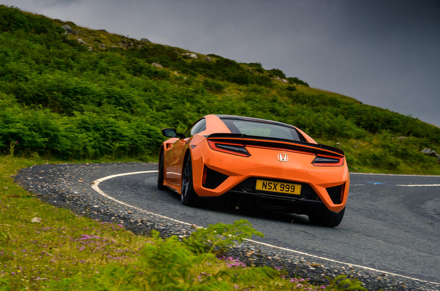 Honda NSX hybrid supercar feature - on the road rear
