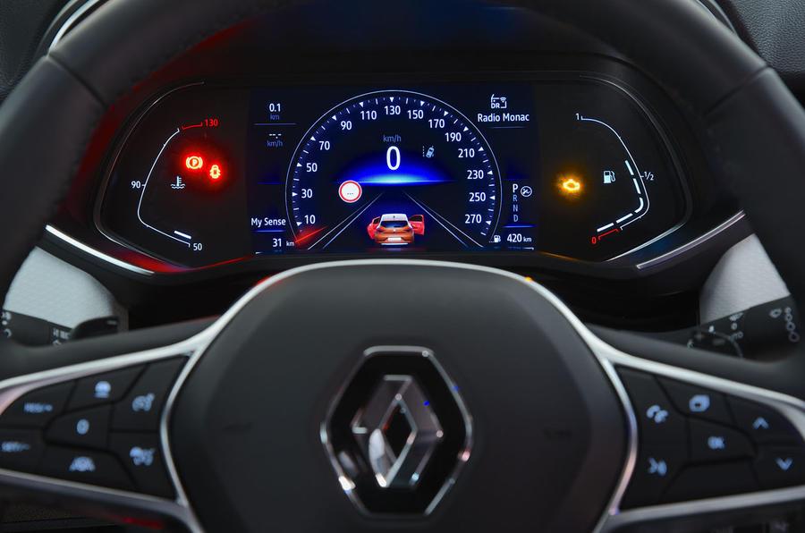 Renault Clio 2019 Autocar studio static - instruments