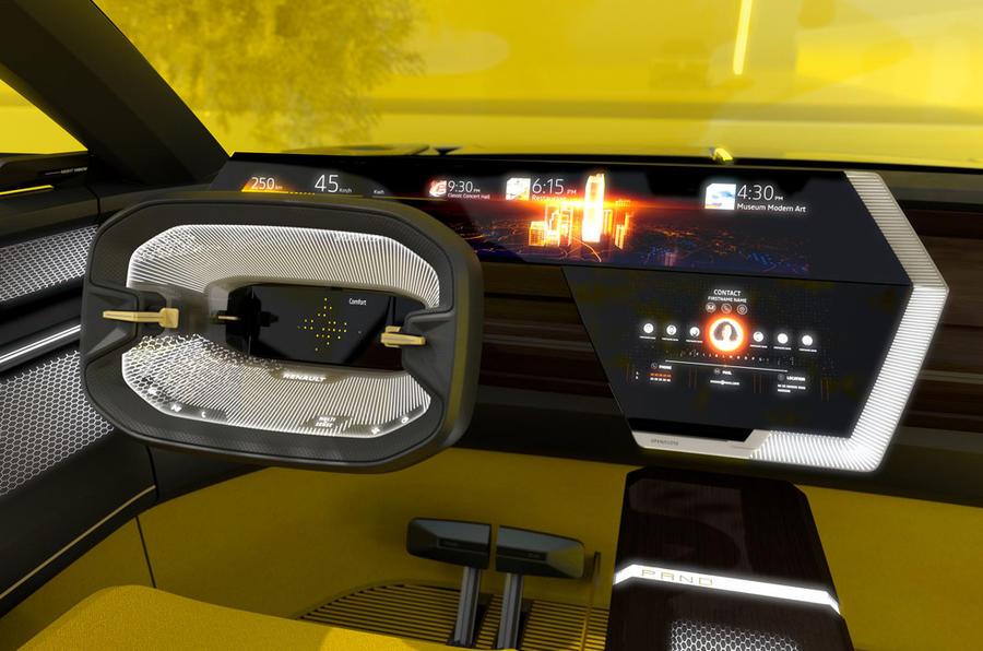 Renault Morphoz concept official studio images - dashboard