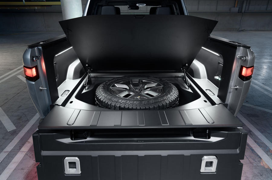 Rivian R1T electric pick-up reveal - spare tyre