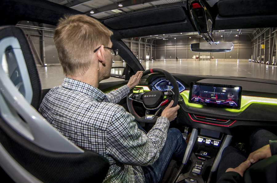 Skoda Vision RS concept drive - Atters driving