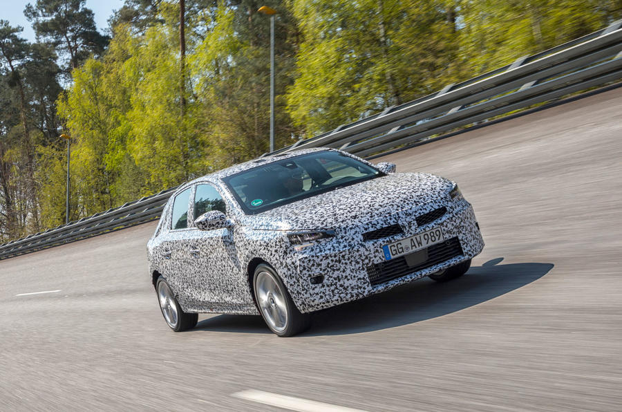 Vauxhall Corsa 2019 prototype drive - highspeed front