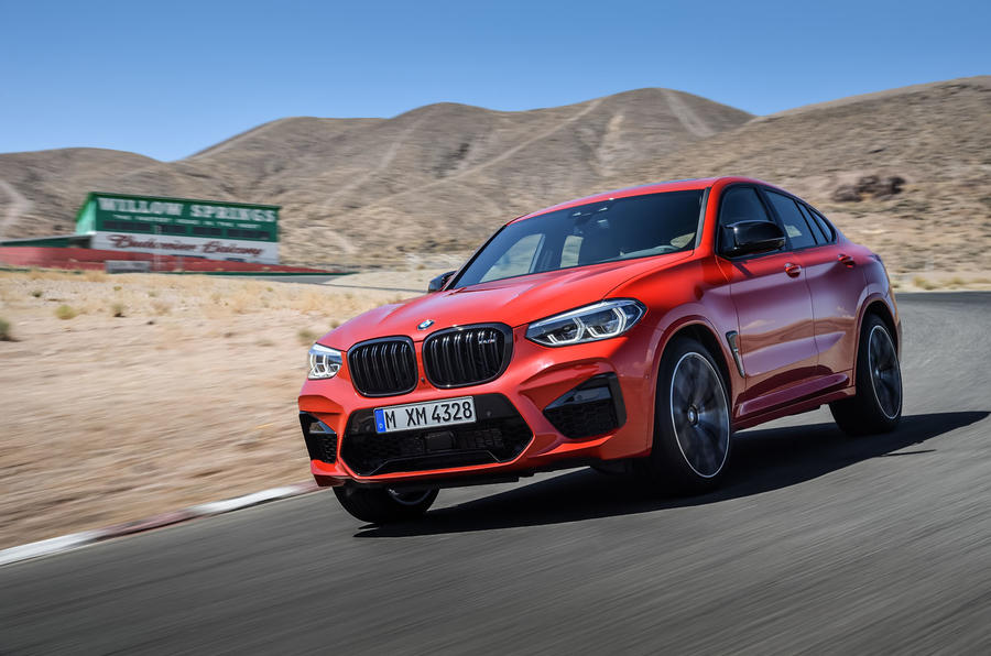 BMW X4M official press - on the road front
