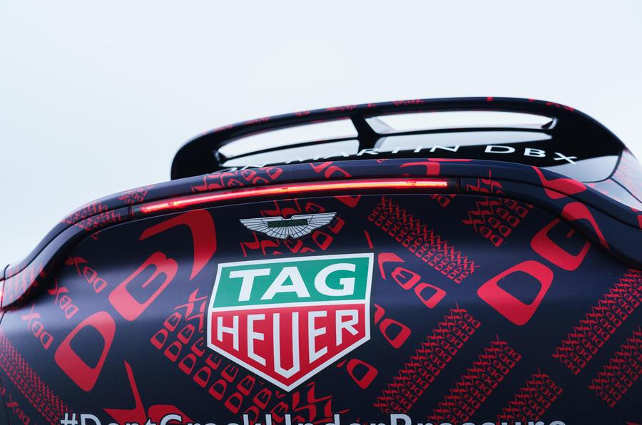 2020 Aston Martin DBX camouflaged prototype ride - rear lights