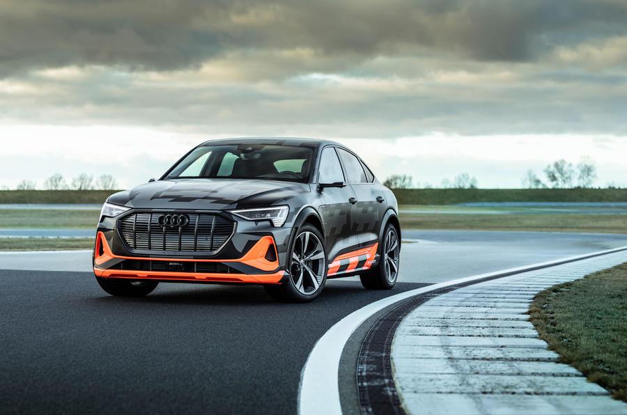 Audi E-tron S Sportback prototype drive - static front