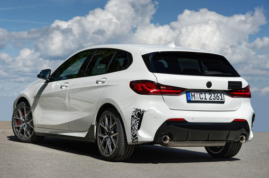 BMW 1 Series 128ti prototype 2020 first drive review - static rear