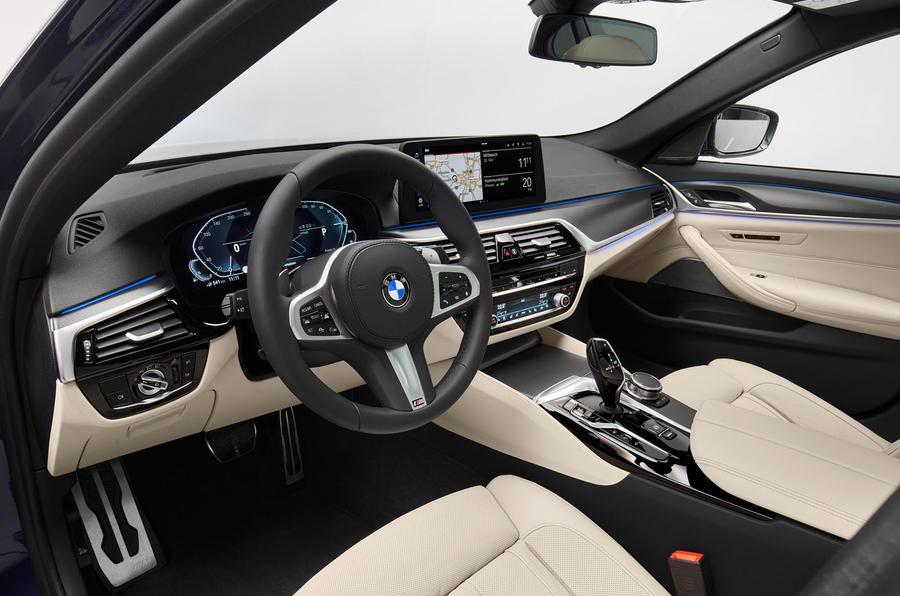 BMW 530e 2020 facelift official images - interior