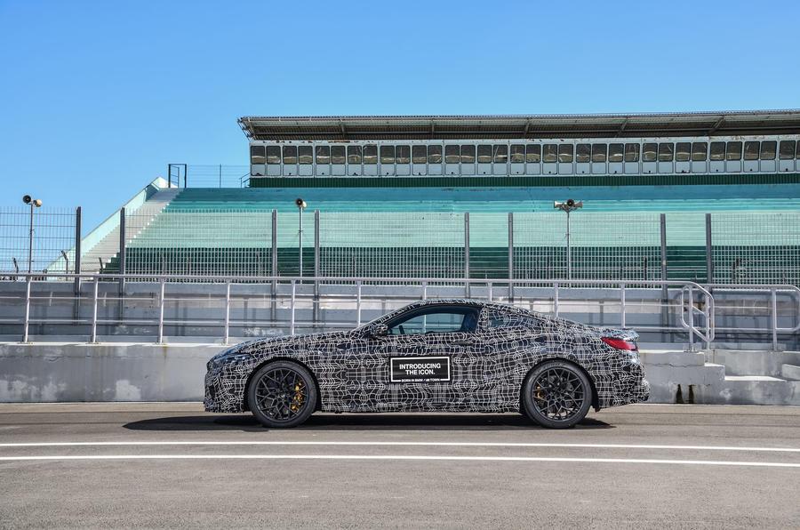 2019 BMW M8 prototype ride - static side