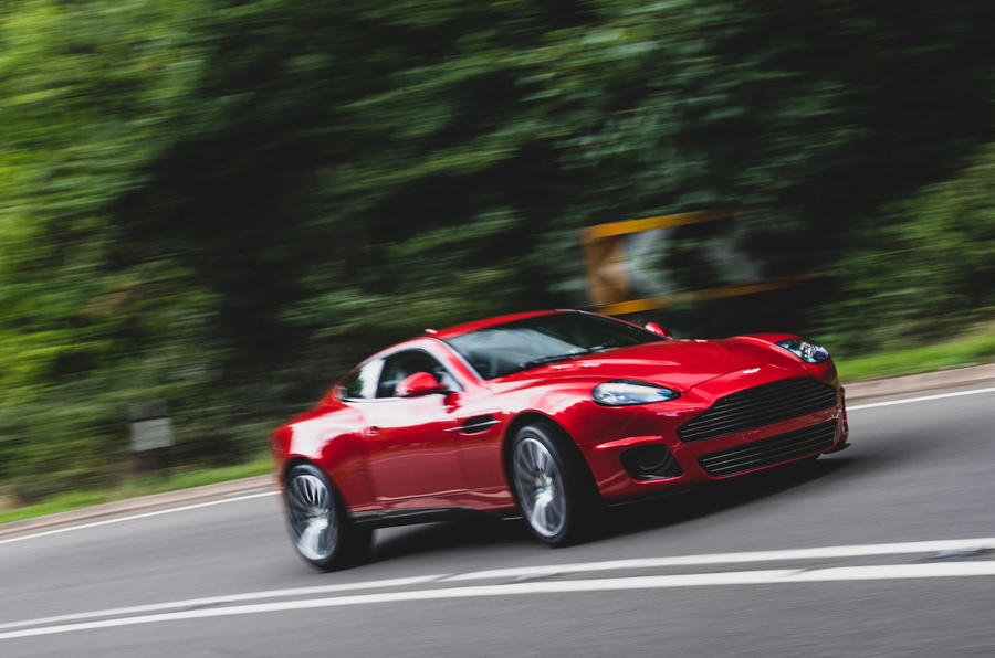 Callum Aston Martin Vanquish 25 first drive review - on the road side