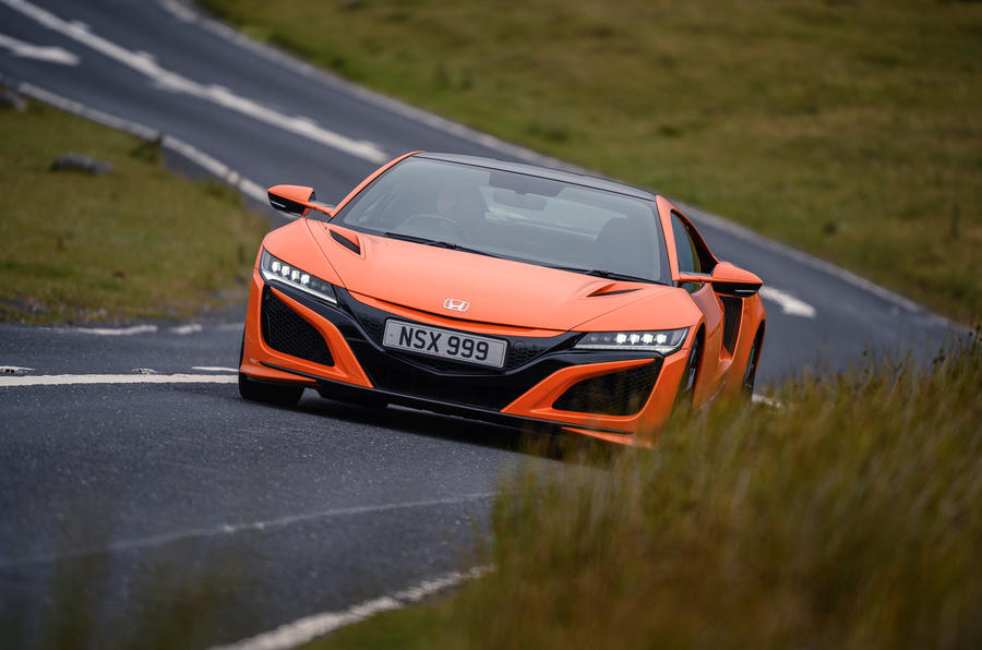 Honda NSX hybrid supercar feature - on the road front