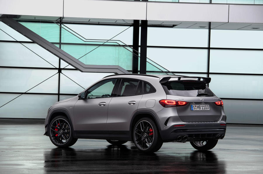 Mercedes-AMG GLA 45 S 2020 official press images - static rear