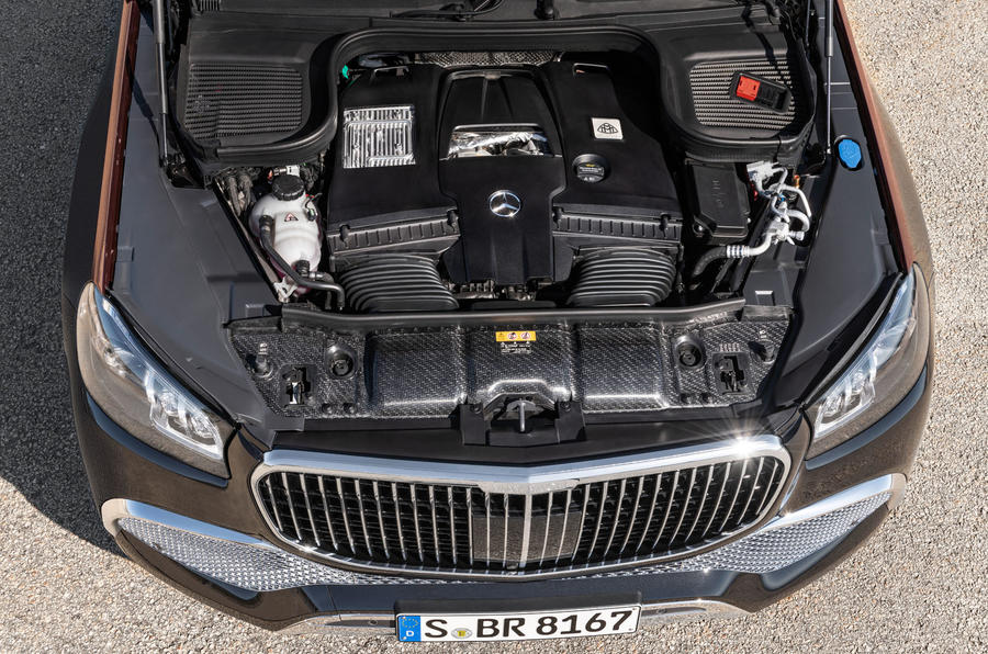 Mercedes-Maybach GLS 600 official press images - engine