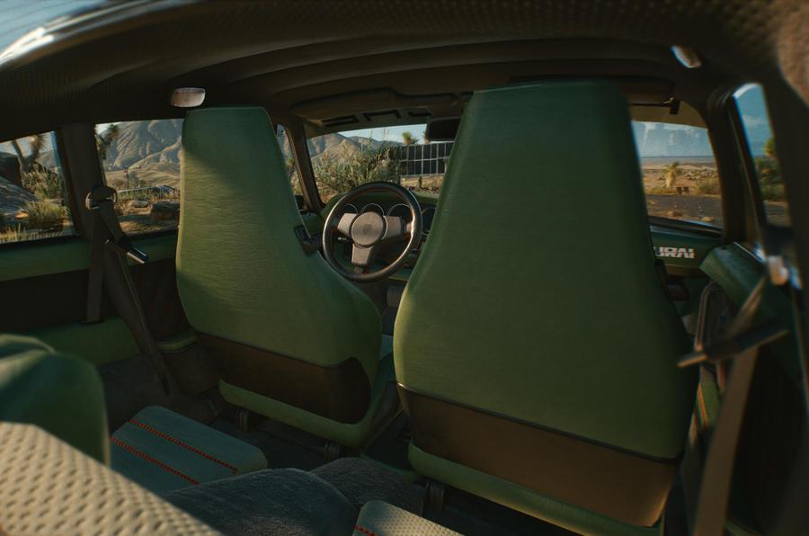 Porsche 911 Cyberpunk 2077 tie-in - front seats