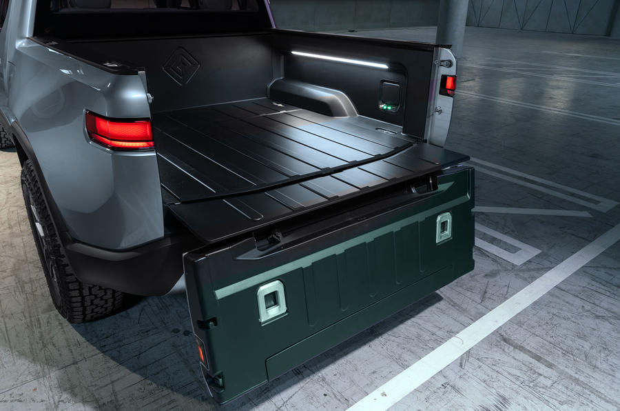 Rivian R1T electric pick-up reveal - flatbed