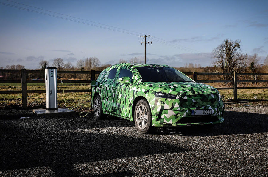 2020 Skoda Enyaq prototype first drive - charging