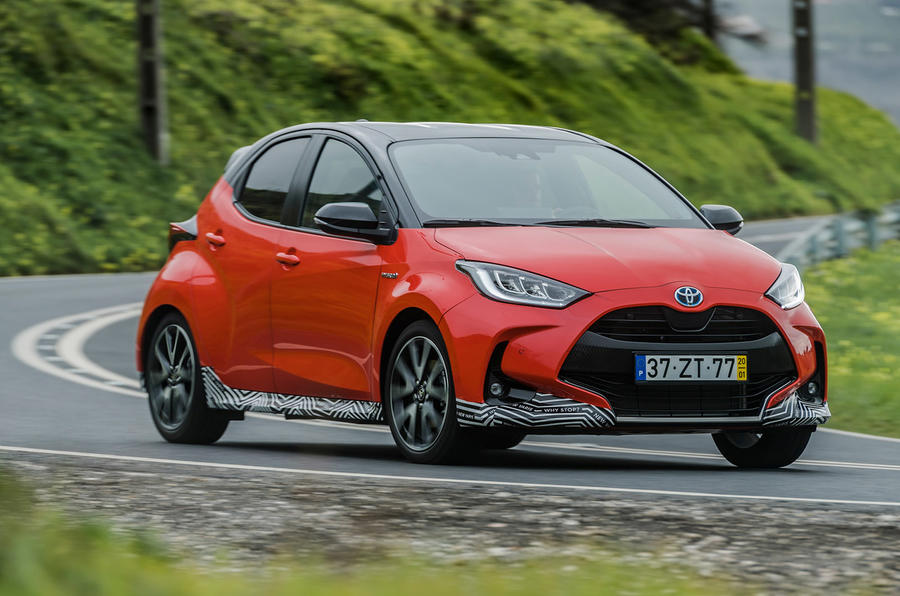 2020 Toyota Yaris prototype drive - on the road front