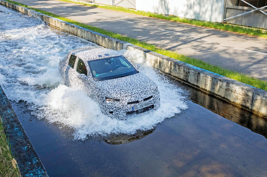 Vauxhall Corsa 2019 prototype drive - wading