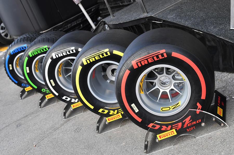 Autocar fixes Formula One - pirelli tyre colours