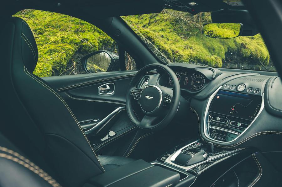 Aston Martin DBX 2020 prototype drive - cabin