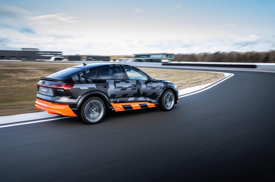 Audi E-tron S Sportback prototype drive - cornering rear
