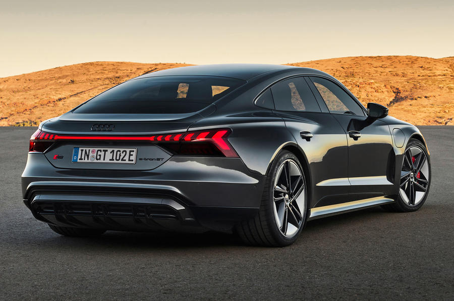 88 Audi RS E tron GT 2021 official reveal static rear