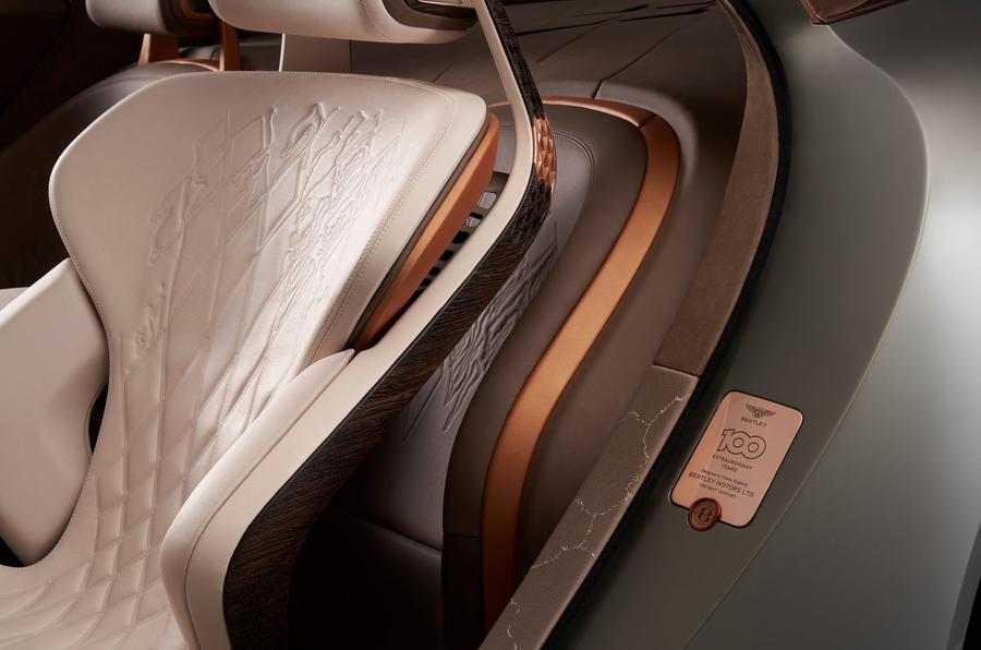 Bentley EXP 100 GT Concept official images - seat detail