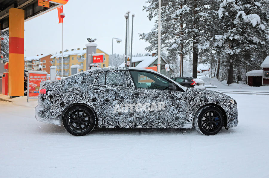 BMW 2 Series camouflage winter testing 2019 - side