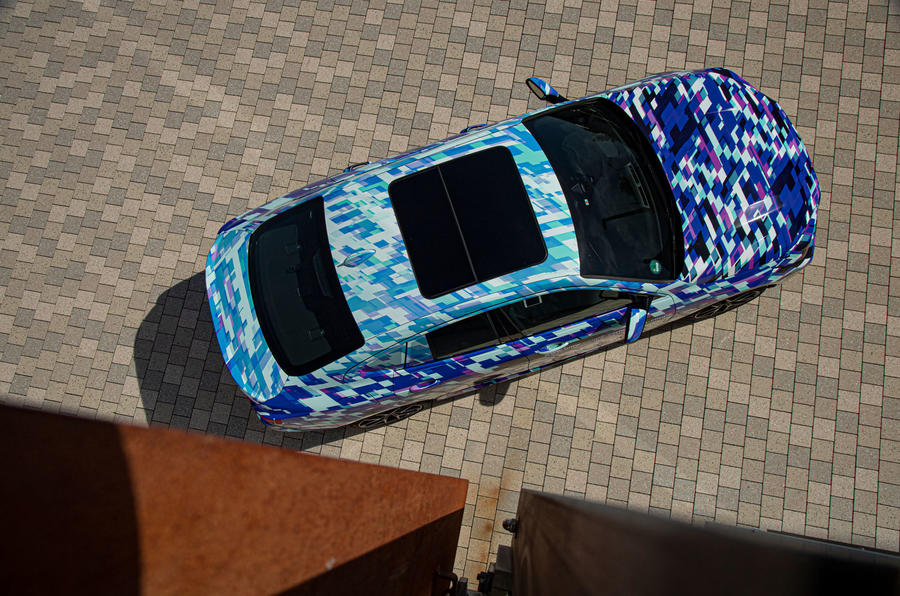 BMW 2 Series Gran Coupé prototype drive - aerial view