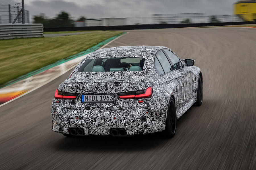 2020 BMW M3 prototype first drive - tracking rear