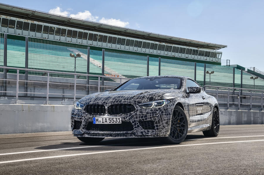 2019 BMW M8 prototype ride - static front