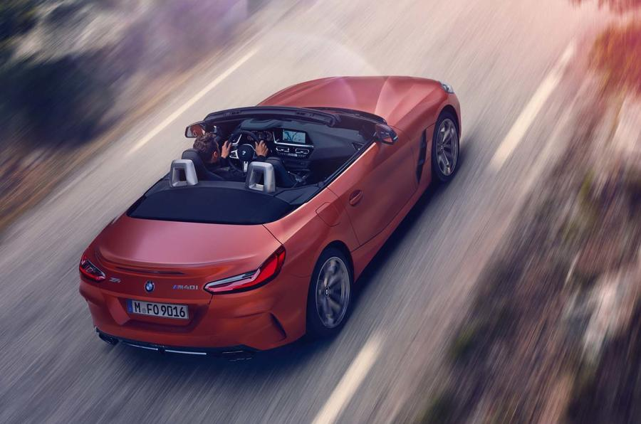 2019 BMW Z4 official reveal Pebble Beach - top