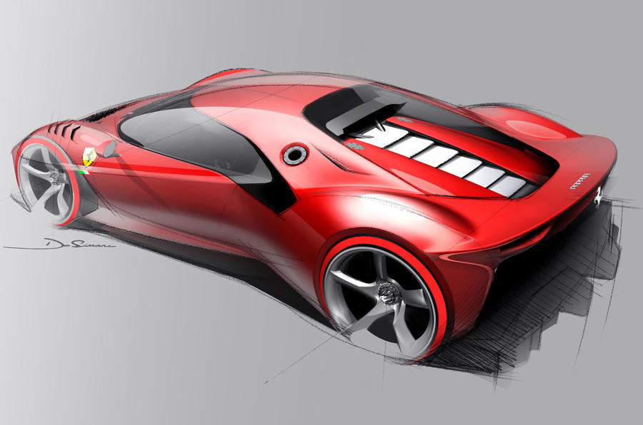 Ferrari P80/C 2019 reveal official pictures - sketch