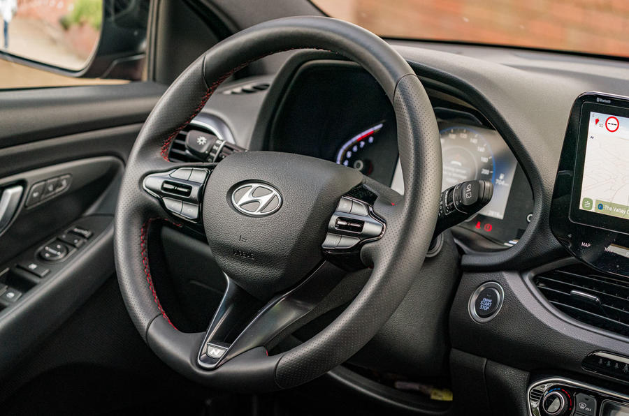 2020 Hyundai i30 N-Line prototype drive review - steering wheel