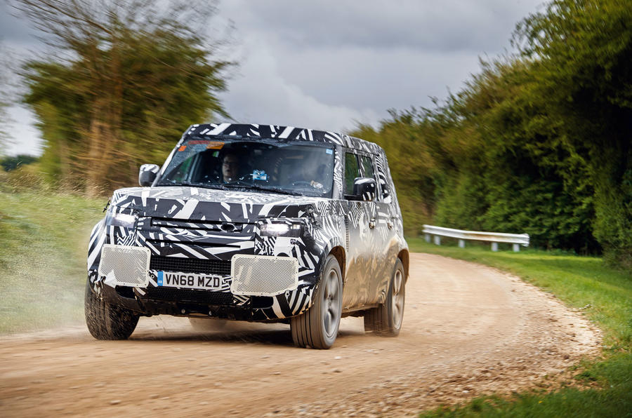 2020 Land Rover Defender prototype ride - cornering right