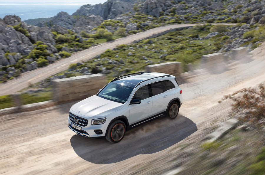 Mercedes-Benz GLB 2019 official reveal - aerial dust